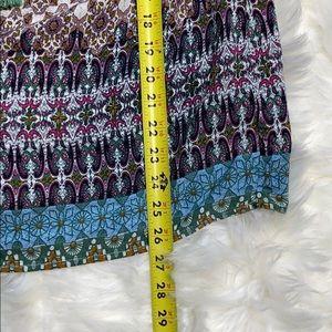 Umgee Tops - Umgee Boho Patterned Tassel Peasant Blouse